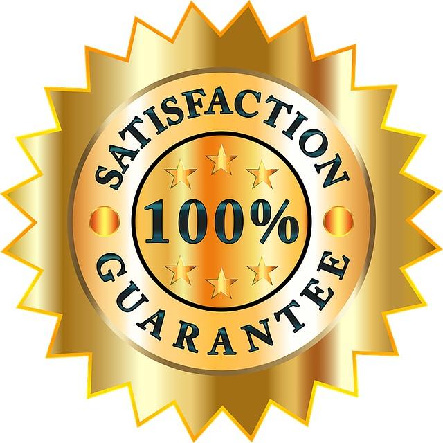 100 hundred % guarantee